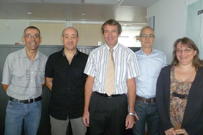 The IT development team at Groupama Assurance Crédit - Left to right: François Beau, Jean-Paul Arnould, Jean-Luc Even, Yves Arnaud, Nathalie Laloux