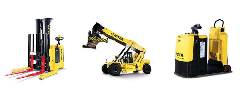 Hyster offers a comprehensive range of material handling equipment, from the largest container handlers and reach stackers, to nearly every type and size of industrial forklift truck, to special warehousing equipment.