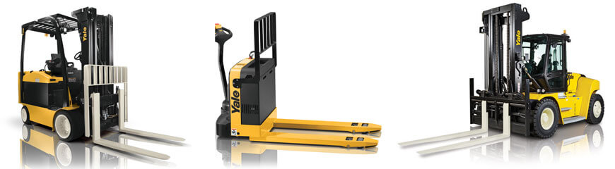 Yale Materials Handling Corporation markets a full line of materials handling lift truck products and services, including electric, gas, LP-gas and diesel powered lift trucks; narrow aisle, very narrow aisle and motorized hand trucks.
