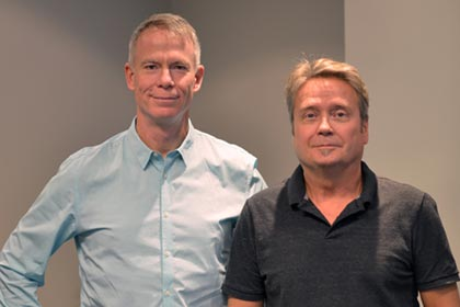Left: Glenn Gundermann, Application Development Manager at Nulogx, Right: Bob Morrow, VP Technology and Hosted Solutions at Nulogx.