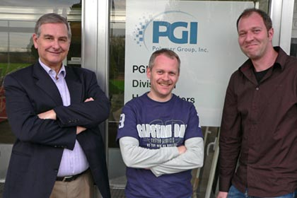 PGI Nonwoven's IT development team, from left to right Fred Rambow, Robert Buteijn and Enrico van Dinten