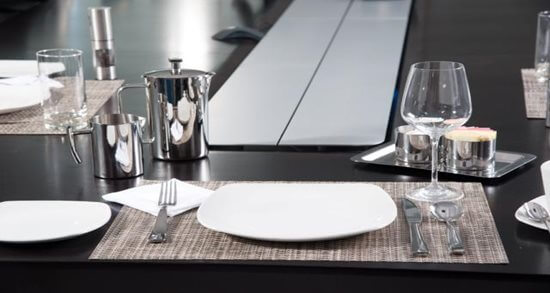 Intelligrated corporate dining cafe place-setting