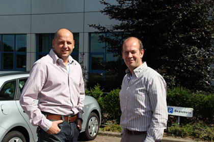 Michèl Thewessen, Manager ICT at ZON (left) and Wil Westerburger, Operational Manager at ZON (right)