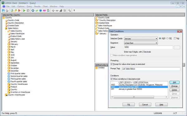 Query Builder & Reporting Tool for IBM i or Windows | LANSA