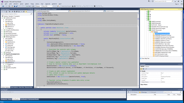 With LANSA Open for .NET developers working with Microsoft Visual Studio can use IBM i objects in their .NET applications.