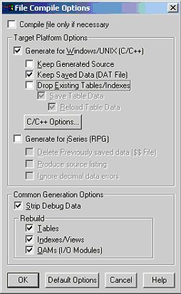 File Compile Options