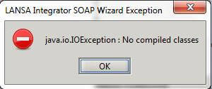 LANSA Integrator SOAP Wizard Exception