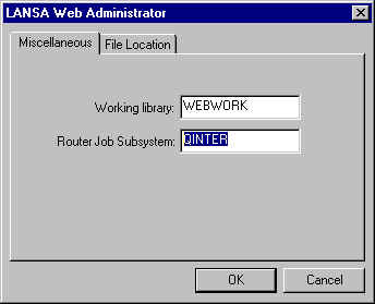 LANSA for the Web Administrator