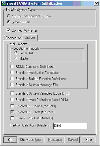 "Figure 3. Select ""PC Users"" and Partition Definition (Master) for initialization"