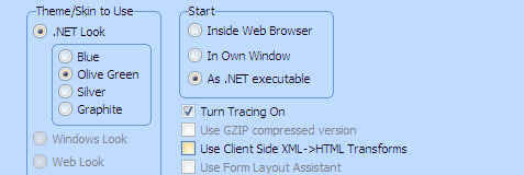 To enable tracing, simply select the option in 'Execute as Web Application' window --> select  'Start - As .NET executable' and the option 'Turn Tracing On'