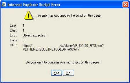 Erro: An error has occurred in the script on this page