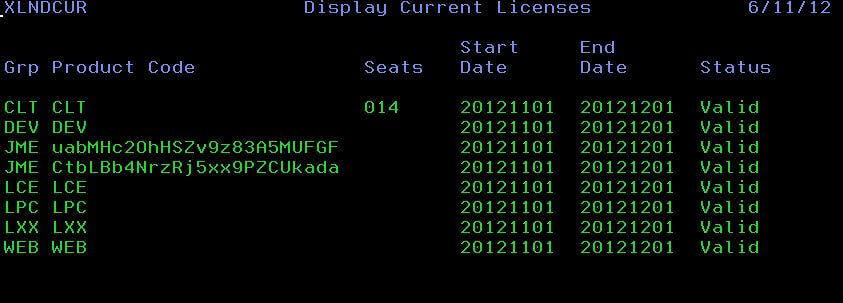 View current licenses