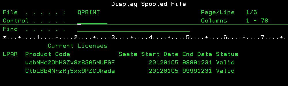 Display Spooled Files