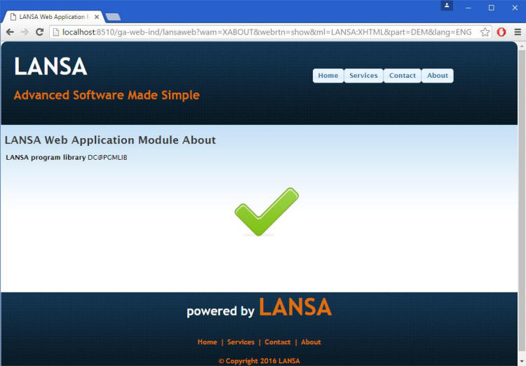 Web Application Model Test Page