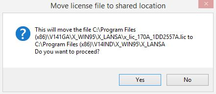 Move license file to shared location